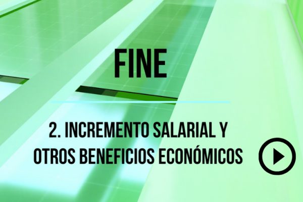 Incrementos salariales  I Convenio de Banca